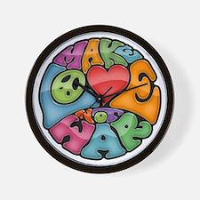 make-love-col-T Wall Clock