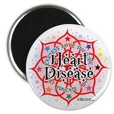 Heart-Disease-Lotus Magnet