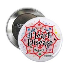 "Heart-Disease-Lotus 2.25"" Button"