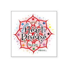 "Heart-Disease-Lotus Square Sticker 3"" x 3"""