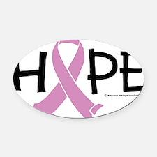 Testicular-Cancer-HOPE-2 Oval Car Magnet