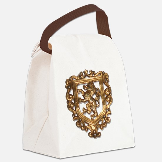 crest brooch Canvas Lunch Bag