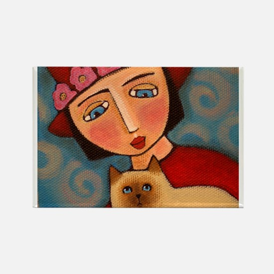 Red Hat Society Lady Rectangle Magnet