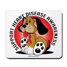 Heart-Disease-Dog Mousepad