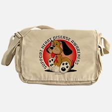 Heart-Disease-Dog Messenger Bag