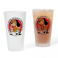 Heart-Disease-Dog Drinking Glass