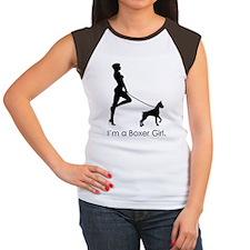 boxergirl_black Women's Cap Sleeve T-Shirt