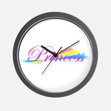 Rainbow Princess Wall Clock