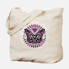 Testicular-Cancer-Butterfly-Tribal-blk Tote Bag