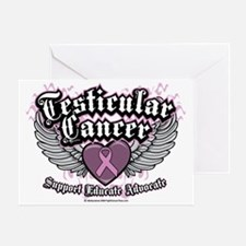 Testicular-Cancer-Wings Greeting Card