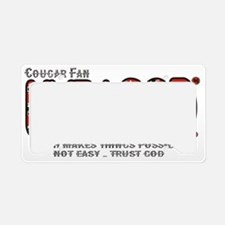 3-Cougar Fan License Plate Holder