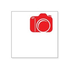"I Shoot EF (Canon) Photo Wh Square Sticker 3"" x 3"""