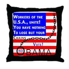 OBAMAchainR Throw Pillow