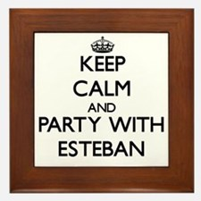 Keep Calm and Party with Esteban Framed Tile