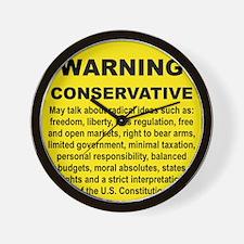 WARNING CONSERVATIVE Wall Clock
