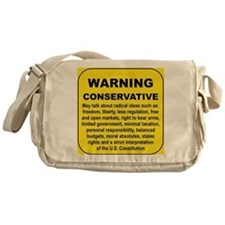 WARNING CONSERVATIVE Messenger Bag