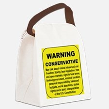 WARNING CONSERVATIVE Canvas Lunch Bag