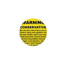 WARNING CONSERVATIVE Mini Button