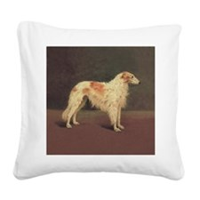 2-Smaller White Gold Zoi  Ima Square Canvas Pillow