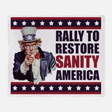 Uncle-Sam---Rally-to-restore-sanity1 Throw Blanket