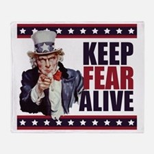 Uncle-Sam---Keep-Fear-Alive1 Throw Blanket