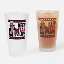 Uncle-Sam---Keep-Fear-Alive1 Drinking Glass