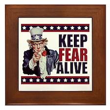 Uncle-Sam---Keep-Fear-Alive1 Framed Tile