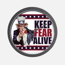 Uncle-Sam---Keep-Fear-Alive1 Wall Clock