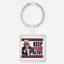Uncle-Sam---Keep-Fear-Alive1 Square Keychain