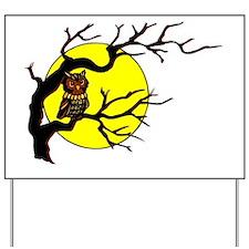 owl_tree-trans Yard Sign