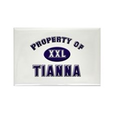 Property of tianna Rectangle Magnet