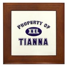 Property of tianna Framed Tile
