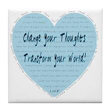 heart change Tile Coaster