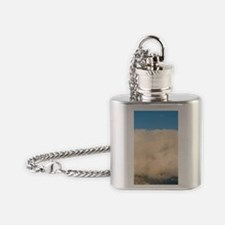 Rustic barn and hay bales after a f Flask Necklace