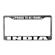 India License Plate Frame