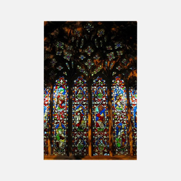 christ church cathedral window 2 Rectangle Magnet