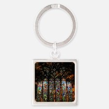 christ church cathedral window 2 Square Keychain