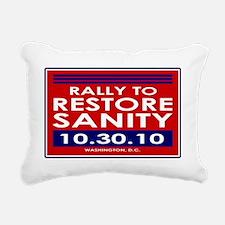 sanityyardsign Rectangular Canvas Pillow