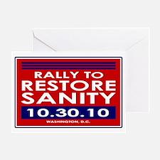 sanityyardsign Greeting Card