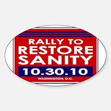 sanityyardsign Sticker (Oval)
