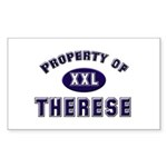 Property of therese Rectangle Sticker