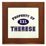 Property of therese Framed Tile