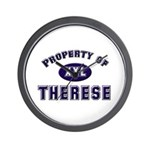 Property of therese Wall Clock