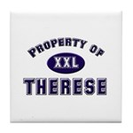 Property of therese Tile Coaster