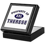 Property of therese Keepsake Box