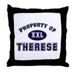 Property of therese Throw Pillow