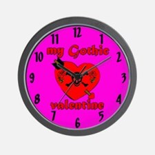My Gothic Valentine Wall Clock