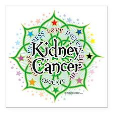 "Kidney-Cancer-Lotus Square Car Magnet 3"" x 3"""