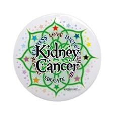 Kidney-Cancer-Lotus Round Ornament