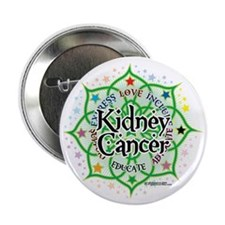 "Kidney-Cancer-Lotus 2.25"" Button"